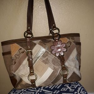 Coach Signature Patchwork Gallery Tote